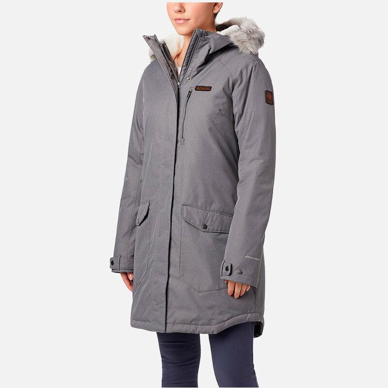 מעיל מבודד ארוך במידות גדולות לנשים